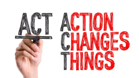 Image with words, Action Changes Things