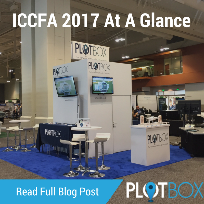 Image of PlotBox's stand at ICCFA 2017