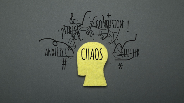 Image depicting a brain in chaos