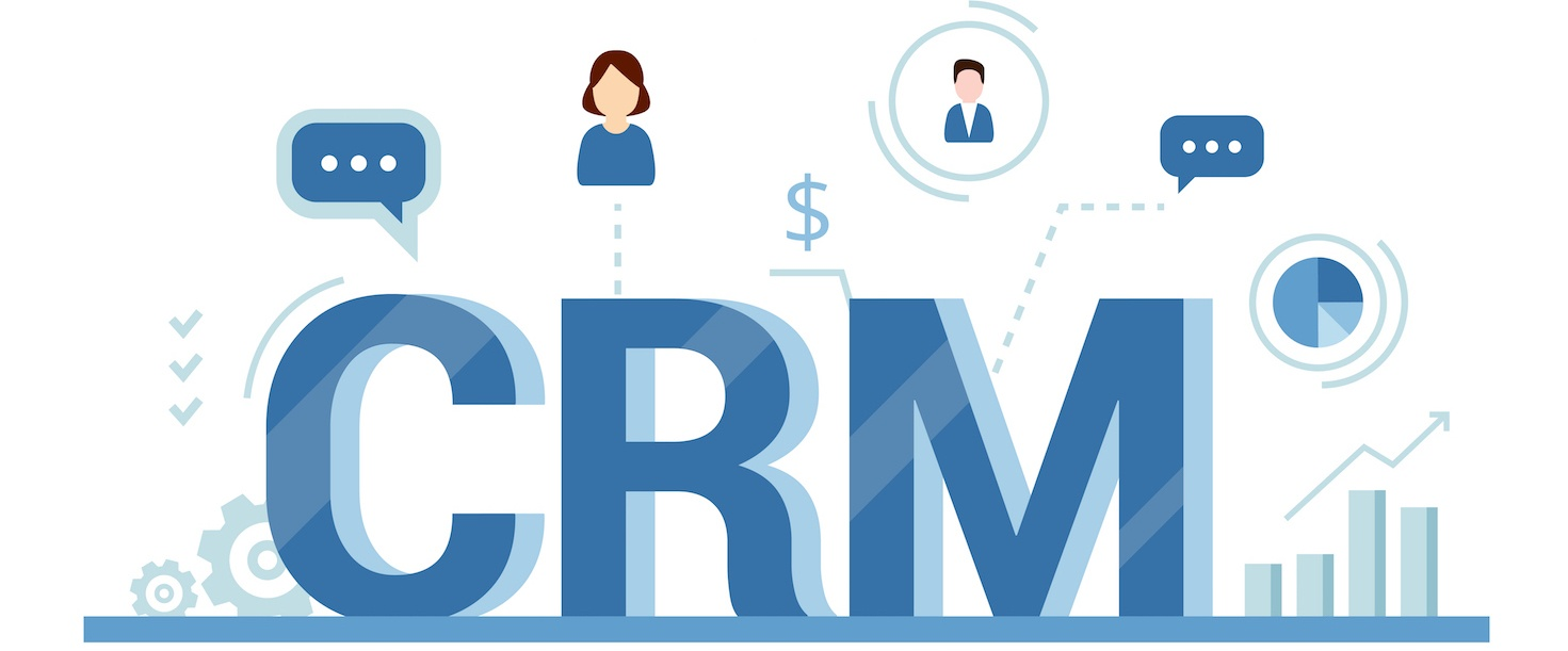 Graphic depiction of a CRM system