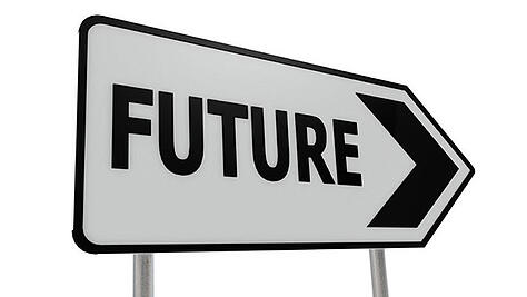 Image of a signpost pointing to the future