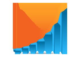 Image of bar chart depicting increasing efficiencies